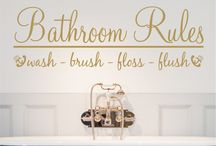 bathroom wall stickers / Calming wall art and bathroom wall stickers
