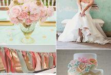 Mint, pink & gold