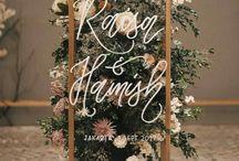 Glass Wedding Signage