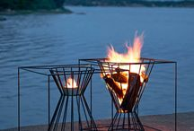 Garden fire basket
