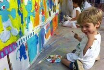 Murales colectivos / Grupo de niños, adultos, empresas y colegios participan organizado por Arte-Sana