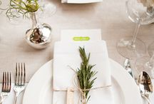 Wedding placemat name tags