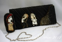 """MY WORK. A collection of """"Eugene Onegin."""" / Clutch and a brooch."""