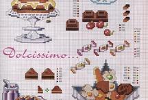 Haft krzyżykowy - Jedzenie / Cross stitch - Food