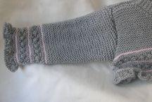 manga rebeca gris y rosa