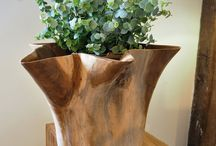 Teak vases, pots & root sculptures / Reclaimed teak pots & vases which make unique gifts. Stunning large root sculptures for in or out of doors, all certainly make a statement.