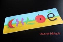 Sticker prénom - déco chambre fille / Stickers prénoms personnalisé pour la décoration de chambre bébé fille.