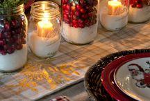 mesa de natal decoração