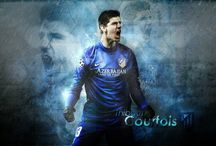 Thibaut Courtois / Thibaut Nicolas Marc Courtois is a Belgian professional footballer who plays as a goalkeeper for Premier League club Chelsea and the Belgium national team. Wikipedia Born: 11 May 1992 (age 25), Bree, Belgium Height: 1.99 m Weight: 91 kg Salary: 3 million EUR (2012) Current teams: Chelsea F.C. (#13 / Goalkeeper), Belgium national football team (#1 / Goalkeeper) Siblings: Valérie Courtois, Gaetan Courtois