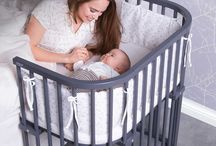 Rooming in with baby / Rooming in after birth is when baby shares a room with Mom. While keeping baby close, Mom learns feeding cues and baby is calmer.