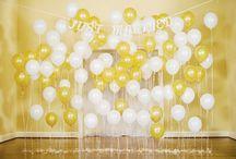 Balloon backdrop for photos