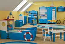 Aranżacja dziecięcego pokoju // The arrangement of the children's room / Marynarski pokój dziecka..