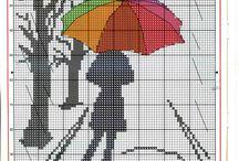 crossstitch umbrella