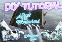 Alice in Wonderland Decoupage Tutorial