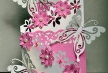 Cards - cascading trifold