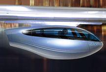 futuristische voertuigen ondergronds