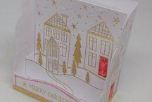 3D Glitzy Petite Village Cards