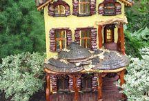 21- Jardin & maisons miniatures / Vrais jardins miniatures, maquettes de paysages, villages, maisons... sculpture et modelage de paysages et d'architectures...