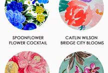 Fun Florals / A variety of fun floral fabrics.