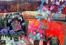 Jean B Martin wc ,acrylic ,collage