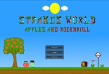 Strange World: Apples & Rock n Roll / It's my first rock n roll platrormer game. Alpha 1.0 is out! A small part of big work is done. Try it if you love rock'n'roll! I need more testers ;)   https://www.facebook.com/swrockgame/   #games #platformer #gamedev