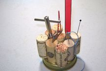 Cork and Thread Spools / reuse ideas with cork, plastic corks, thread spools.  (see furniture for larger spools like cable spools)