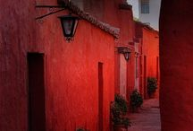 pretty and colorful buildings and homes
