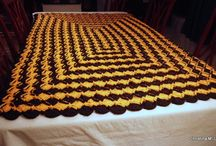 Black and Orange Crocheted Blanket / by Christina M. Lee Designs