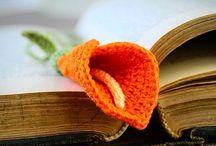 Marcador de livro em crochê