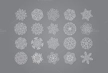 snowflake / pattern, vector graphics