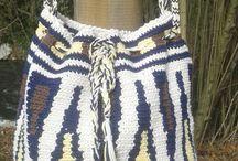 woman bags; borse donna: tapestry crochet; wayuu bag;