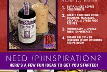 Iced Coffee Concentrate Recipes / Submit your favorite recipes on our Facebook page using our Iced Coffee Concentrate for a chance to be included in our Iced Coffee Concentrate Recipe Book!  Check out these great entries below for some Pinspiration! / by PJ's Coffee