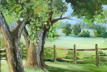 Paysage arbres verts