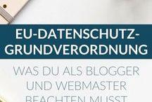 DSGVO - Datenschutz / Sammlung mit allem, was ich zum Thema Datenschutz und DSGVO bei Pinterest finde...