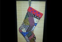 Africa Stockings and Christmas Items / General African motif, non-specific to any country.