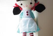 poupee chiffon / des poupée en chute de tissu