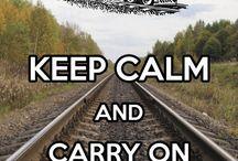 KEEP CALM - postcard