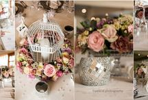 French-Vintage Flair Wedding Decor / The inspiration was to create a wedding reception with a chic and French-vintage flair to it.  We incorporated momentous belongings of the bride's family to create the personal feel.
