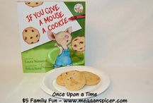 $5 Family Fun - Once Upon a Time / School is out and you're trying to decide what to do to entertain the kiddos?  Plan a fun activity of storytime and story-themed snacks for your family for $5 or less.   For more $5 Family Fun ideas, visit www.megganspicer.com or facebook.com/megganspicer.
