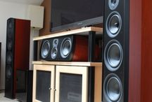 Aperion Home Theater Speaker Set / Photos of our speakers in our customers homes.