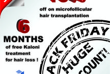 Deals, Sales etc... / Kaloni Hair Restoration special sales and deals! Take advantage of the price off and recover your hair, restore your natural look. Fight hair loss!