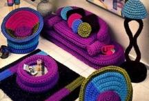 Crochet doll house