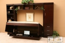 Hidden Beds / Unique Hidden Bed pieces offer you comfort and style while serving multiple purposes, such as The Hiddenbed desk bed system that provides you with the functional work surface of a desk, using a balancing mechanism that keeps everything safe on your desk, and even plugged in while using as a bed! This is ideal for small spaces such as teenagers room or even dorm rooms!