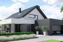 HomeKONCEPT-51 | Projekt domu / Projekt HomeKONCEPT 51 to interesująca propozycja domu parterowego z poddaszem użytkowym, przeznaczona dla osób poszukujących ponadczasowej i nowoczesnej architektury.