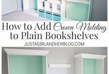 crown molding to bookcase