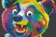animali multicolore