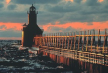 Lake Michigan Lighthouses / Each year, the West Michigan Tourist Association releases a map of all the lighthouses along the Lake Michigan shoreline. This includes Michigan, Wisconsin, Illinois and Indiana. This year's maps are available now! Request a FREE map or see one online at http://www.wmta.org/lake-michigan-lighthouse-map-circle-tour/