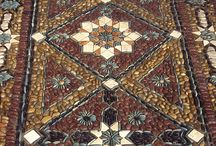 Pebble mosaic gardens