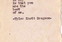 Tyler Knott Gregson