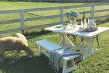 THE WHITE RABBIT HOME / Furniture and home decor with a farmhouse flair. The line is handcrafted locally with reclaimed wood for a vintage feel.